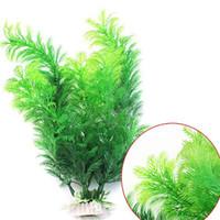 fischbehälter künstliche pflanzen großhandel-Simulation Wasser Gras Künstliche Pflanzen Kunststoff Kunstrasen Dekoration Wasser Aquarium Ornament Dekoration Aquarium WX9-1260