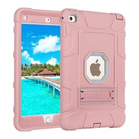 Wholesale ipad rugged heavy duty case online - For Ipad Mini Case Hybrid Heavy Duty Rugged Shockproof Anti Scratch Protective Case with Kickstand for Ipad Mini