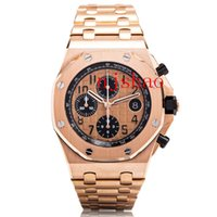 Wholesale japanese casing resale online - Top Selling Wristwatches Chronograph Japanese Fly back Quartz Movement Stainless Case Steel Strap Sport Men Mens Watch Watches