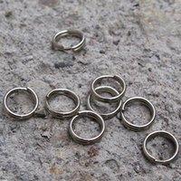 llavero de alambre al por mayor-10 mm Diámetro del anillo dominante de Split Ultra Small Llavero de aleación de metal círculo de alambre llavero creativo DIY Accesorios