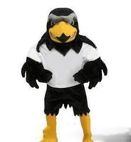 özel peluş kostümler toptan satış-2019 Profesyonel ismarlama Deluxe Peluş Falcon Maskot Kostüm Yetişkin Boyutu Kartal Mascotte Mascota Karnaval Parti Cosply Kostü ...