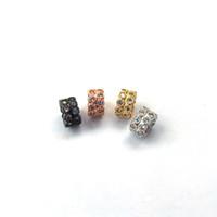 conectores de cristal venda por atacado-Micro pave Connector Spacer Beads CZ zircon cristal para DIY Fazer Pulseira colar Encontrar Jóias CT460