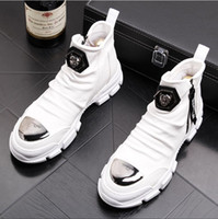 botas de vestir británicas al por mayor-NUEVO estilo de Lujo Estilo Británico Zip Men Botines de Cuero Moto Vaquero Hombres Botas Vestido Zapatos de Negocios de Boda Z84