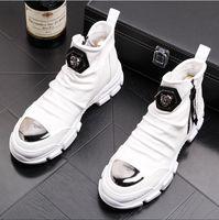 i̇ngiliz elbise botları toptan satış-YENI stil Lüks İngiliz Stil Zip Erkekler Ayak Bileği Çizmeler Deri Motosiklet Kovboy Erkekler Çizmeler Elbise Düğün Iş Ayakkabıları Z84