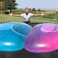 outdoor brinquedos adultos venda por atacado-Bolha incrível bola engraçado Toy Água-cheia TPR Balloon For Kids Adulto Outdoor Wubble bolha bola Brinquedos infláveis decorações do partido ZZA237-1