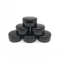 siyah plastik kavanozlar toptan satış-3Gram Kozmetik Örnek Boş Kavanoz Plastik Yuvarlak Pot Siyah Vida Cap Kapak Küçük Tiny 3g Şişe Makyaj Göz Farı Çivi Tozu için