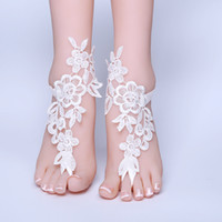 Wholesale toe anklet beach for sale - Group buy Bride Sexy Lace Foot Ornaments Anklet Europe And America INS Simple Pearl Beach Open Toed Decoration