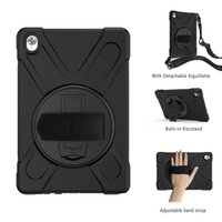 Wholesale kids ipad 10.2 case for sale - Group buy Kids Safe Shockproof Durable Silicone Case Cover with Shoulder Hand Strap for Ipad Huawei M6 M5 M5 Pro Cover