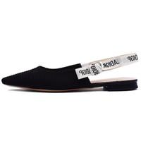 sexy sandalias de vestir para mujer al por mayor-Diseñador de Mujer Zapatos de Vestir Verano Sandalias Frescas Pisos Para Mujer Mocasines de Boda de Lujo de Calidad Superior Sexy Point Top Ballet Shoes Q-328