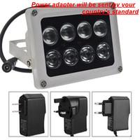 массив cctv оптовых-Водонепроницаемые камеры видеонаблюдения светодиоды на открытом воздухе 50 м инфракрасный инфракрасный светильник осветитель с 8 шт. ИК-светодиоды массива заливки видеонаблюдения