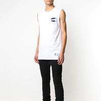 21b935ceb0a87 Wholesale high neck tank top men online - Brand mens vest high quality  casual sleeveless Tshirt