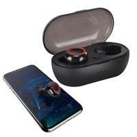 ingrosso cuffie di gioco del bluetooth-Auricolare Bluetooth senza fili 5.0 Cuffia impermeabile nell'orecchio Gioco Sport Mini Twins Auricolare Musica TWS Auricolari con custodia per Smartphone