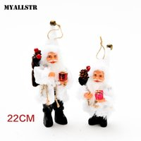 ingrosso rosa bambola rosa natalizia-Decorazioni per la casa unisex Claus Red Casual Red Christmas Santa Doll Albero da vino Toy Christmas Party Ornament White Brown