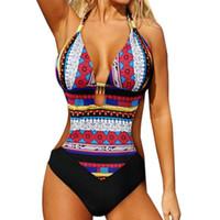 a89a35b9d13e tipos de maiô sexy venda por atacado-Novo tipo de impressão têxtil sexy  mulheres beachwear