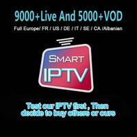 ingrosso box tv supporto-Miglior Abbonamento IPTV 9000+ Live And 5000 + VOD Per la Francia l'Italia CA Caraibi Supporto TV BOX Smart TV Box MAG M3u