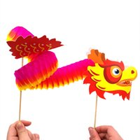 Wholesale chinese toy puzzle for sale - Group buy Chinese dragon Children s handmade diy Paste Material package Chinese style kindergarten Creative Puzzle Paper toy