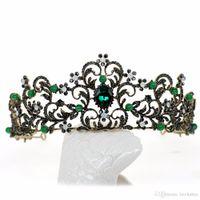 sombreros de boda de la vendimia al por mayor-Ronda nupcial de cristal fiesta de la boda tiaras y coronas de novia barroco corona Boutique Headwear tiara de la boda Headwear