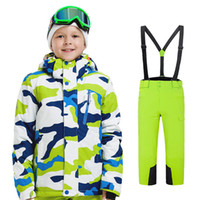 Wholesale camel suits for sale - Group buy Kids Designer Sweat Suits Teenager Printed Ski Suit Windbreak Waterproof Warm Camel Smyrtle Winter Wear Resisting UV Protection40