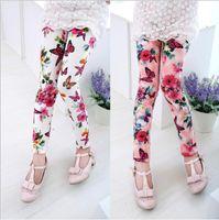 2fd22c09b 5 Colors Girls Floral Printed milk silk Leggings Tights Korean Children  Baby legging Casual Trousers Pant kids boutique designer clothes