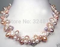 ingrosso perle originali per il matrimonio-girocollo Donna Regalo parola Amore NOVITÀ genuina collana di perle coltivate multicolore buon matrimonio Anime in stile nobile