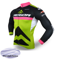 fbe232912 New MERIDA Men cycling jersey 2018 pro team Mountain bike Tops winter  thermal fleece long sleeve Bicycle Clothing ropa ciclismo 120701Y