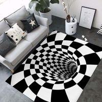 zimmer teppiche großhandel-3D Teppiche Luxus Geometrie Optische Täuschung Teppiche Badezimmer Wohnzimmer Boden Rutschfeste Matte Schlafzimmer Nacht Teppich Dekor
