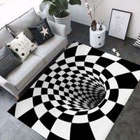 tapetes de banheiro azul venda por atacado-Tapetes 3D Área de Ilusão de Ótica de Geometria de Luxo Tapetes Banheiro Sala de Chão Anti-Slip Mat Tapete de Cabeceira Quarto Decoração