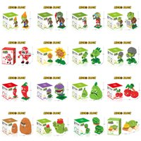 Wholesale zombie toy dolls for sale - Group buy Super Hot types Mini Super Comic game plants and zombie game doll models Building Blocks Toys