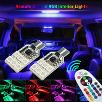 Wholesale civic lights resale online - RGB W5W T10 LED Bulb Car Clearance Lights For Honda Civic Fit City Jazz CRV Auto Interior Reading Lights