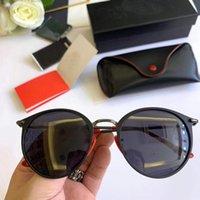 lentille de lunettes de soleil sans monture achat en gros de-RayBan Ferrari nouveau cadre ultralight lunettes de soleil mykita sans vis cadre rond rabat top hommes marque lunettes de soleil designer revêtement miroir