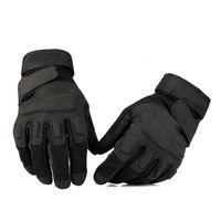ingrosso guanti tattici pieni-Guanti tattici Blackhawk Outside USA Guanti sportivi in pelle Combattimento Guanti da dito pieno Caccia a cavallo Acc