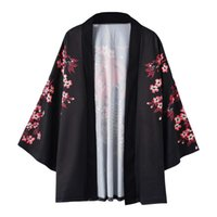 Wholesale couples robes online - ROBEJapanese summer new men and women couples cardigan anti mite cloak robe print enamel pattern seven point sleeve coat Report