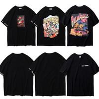 novo impresso camisetas venda por atacado-2019 Nova Palma Anjos T-Shirts Dos Homens Das Mulheres Hip Hop Casuais Anjos Da Palma Da T Camisa Streetwear Impressão 3D Pintura Da Palma Anjos Camisetas