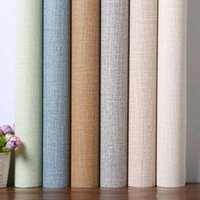 Wholesale black blue wallpapers resale online - Waterproof adhesive solid color sweet bedroom wallpaper to thicken the PVC decorative wallpaper wall stickers