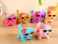 Wholesale old dog doll resale online - 10 models Electronic Walking Dogs Kids Children Interactive Electronic Pets Doll Plush toys Neck Bell Barking Electronic Dog Toy Christmas