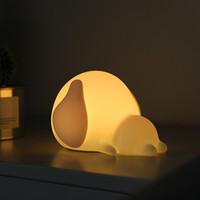 bebekler için gecelik hafif oyuncaklar toptan satış-Silikon oyuncaklar LED gece lambası USB şarj edilebilir karikatür evcil köpek çocuklar bebek çocuk lamba başucu uzaktan kumanda ile uyku dekor aydınlatma masa lambaları