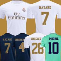 ingrosso pullover futebol-pullover da calcio Real Madrid 19 20 HAZARD JOVIC MILITAO camiseta de fúbolbol 2019 2020 kids VINICIUS JR ASENSIO maglietta da calcio bambini MARCELO ISCO camisa de futebol