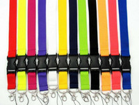 Free shipping, Cell phone lanyard Straps Clothing Sports brand for Keys Chain ID cards Holder Detachable Buckle Lanyards 100pcs