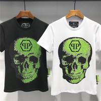 3d schädelkopfhemd großhandel-Sommer Hohe Qualität Baumwolle Schädel Kopf 3D Druck Korean Mann Kurzarm T-shirt Bottoming herrenbekleidung