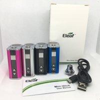 миниатюрная батарея vape оптовых-Eleaf Mini istick 10 Вт Батарея 1050 мАч VV Батарея переменного напряжения 4 цвета 510 Нить Vape Мод с USB-зарядным устройством Разъем eGo Simple Pack