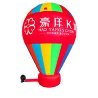 globos inflables publicitarios al por mayor-Globo inflable de la publicidad inflable promocional del globo del aire de tierra inflable gigante con la impresión y el ventilador de encargo del logotipo