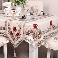 Magnificent Proud Rose Exquisite Embroidery Hollow Out Chair Cover Table Cloth Ellipse Tea Table Cloth Rural Table Runner Round Tablecloth Sh190925 Theyellowbook Wood Chair Design Ideas Theyellowbookinfo