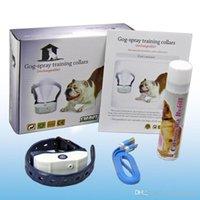haustier training spray groihandel-Neueste Tierbedarf Hundetrainings-Kragen Citronella Spray Hundegebell-Stop-Gerät Smart-Spray Li-Batterie wiederaufladbare Spray Lautstärke einstellbar