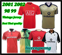 Wholesale united soccer jerseys resale online - Retro Version United Centenary Jersey Soccer jersey v NISTELROOY football Giggs SCHOLES BEKHAM RONALDO Manchester