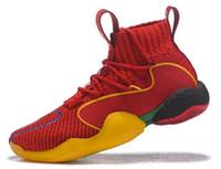 buenos zapatos de goma al por mayor-Zapatillas de baloncesto Pharrell x Crazy BYW, zapatillas de goma muy bonitas, zapatillas de bajo agradable y cómodas, zapatillas de gimnasia para caminar