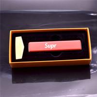 ingrosso elettronica di moda-Accendino elettronico accendino ricaricabile in metallo accendino USB con cavo di ricarica USB e scatola con il regalo di moda marchio SUPR EME
