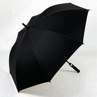 iş şemsiyeleri toptan satış-Tüm-Fiber Uzun Sap Windbreak Golf Şemsiye Erkek Iş Hediye Şemsiye Süper-büyük Düz kutup Şemsiye çin'de Yapılan