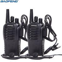 transceptor 3km al por mayor-2 Unids Baofeng BF-888S Walkie Talkie UHF Radio Bidireccional BF888S Radio Portátil 888S Comunicador Transmisor Transceptor + 2 Auriculares