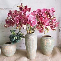 Wholesale butterfly branches for sale - Group buy 1 Set flower branches orchid stems Butterfly Orchids Artificial Flowers Home Wedding Decoration flores fleur artificielle