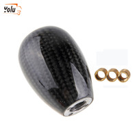 Wholesale silver lever for sale - Group buy YOLU Universal Manual Operation Car Gear Shift Knob Gear Lever Carbon Fiber Black Silver for Golf Bora